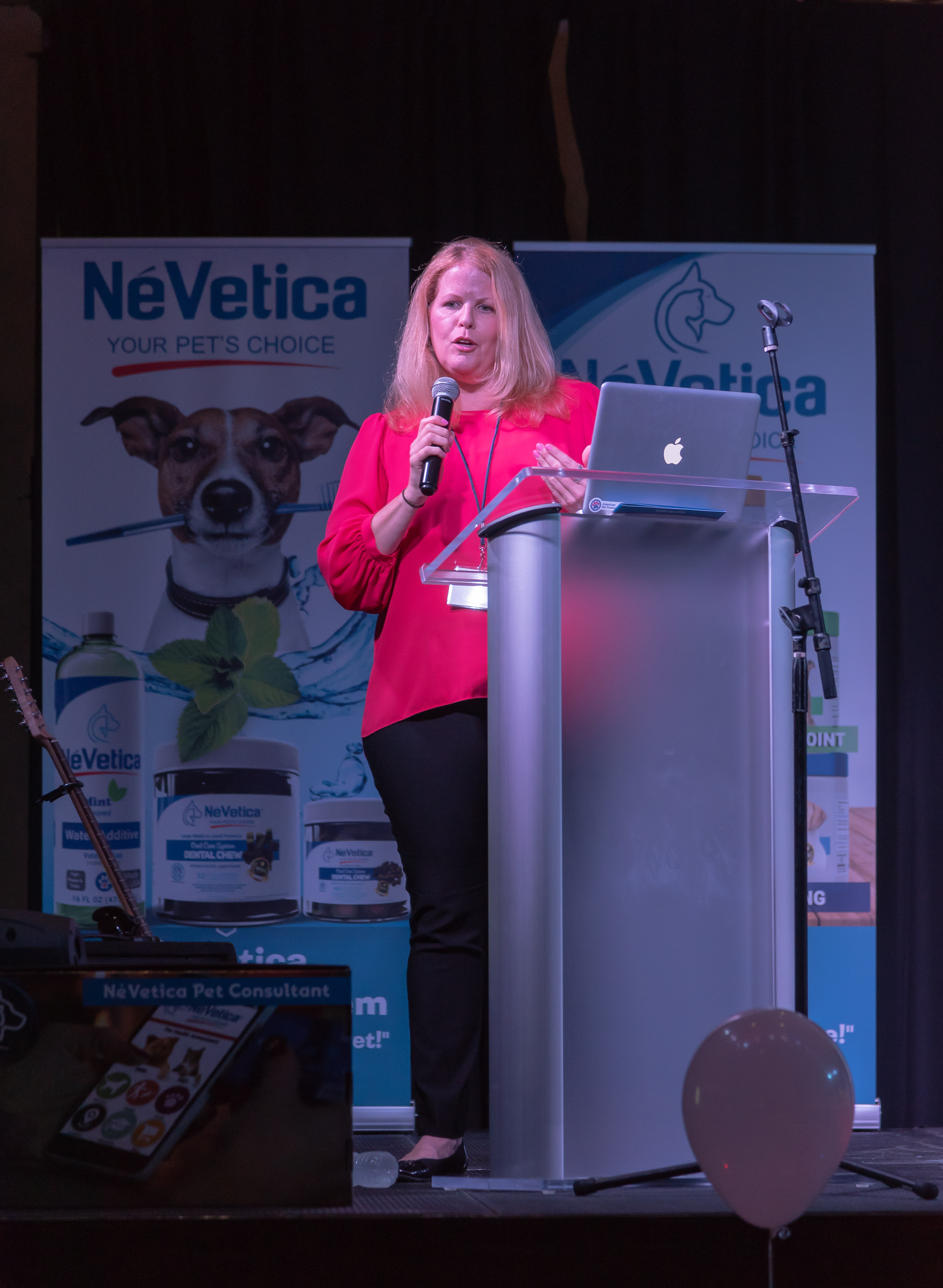 APP Founder Nancy Hassel speaking at the NeVetica launch in Baltimore, July 2018.