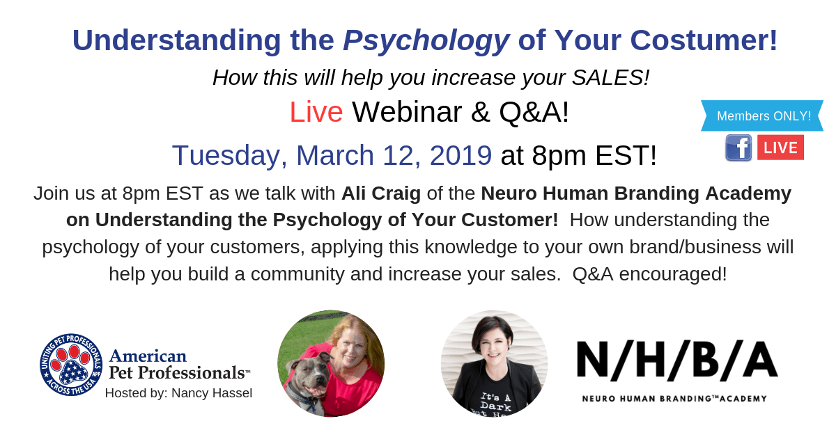 Psychology of your Customer March 12 2019
