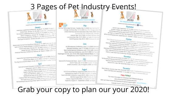 3 Pages of Pet Industry Events!